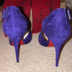 8086e1323524 Christian Louboutin Shoes - NIB Purple Christian Louboutin Sharpeta 100mm